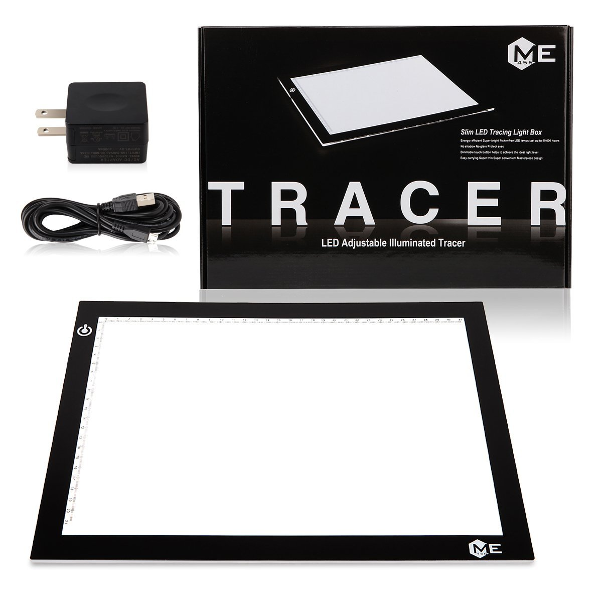"""LED Light Pad (9""""x12"""") used for tracing, sketching, animation, calligraphy, stenciling, sewing."""