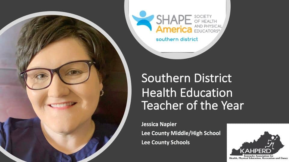 Jessica Napier SHAPES Teacher of the Year