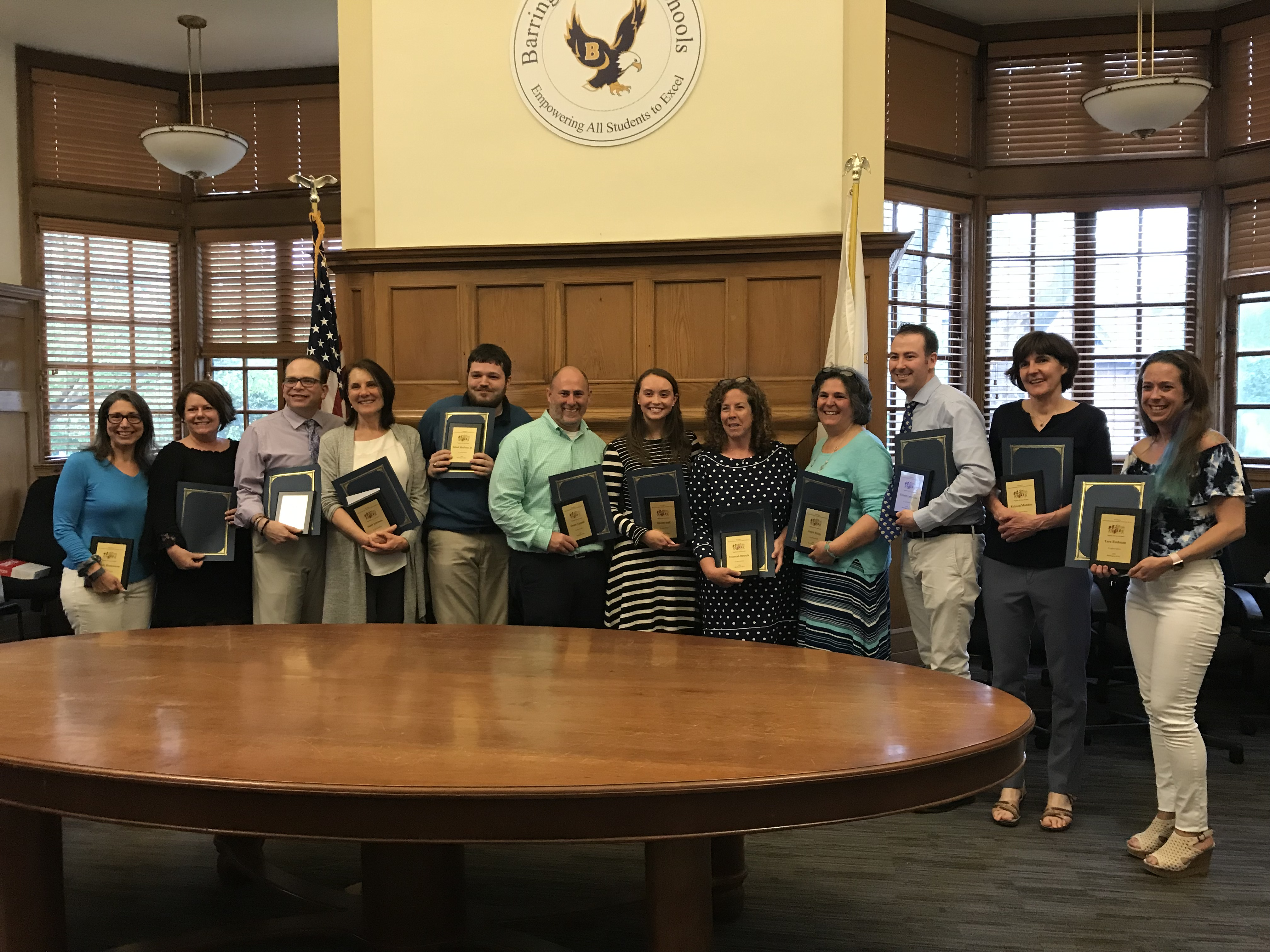 A photo of the 2018-19 winners of the SEAC Special Educator Awards