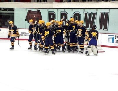 A photo of the hockey team