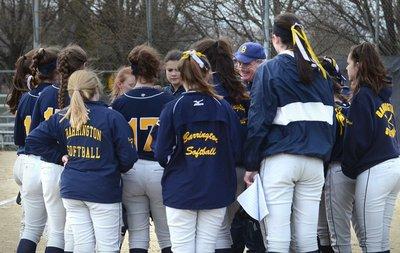 A photo of the softball team