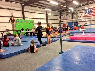 A photo of a gymnastics gym