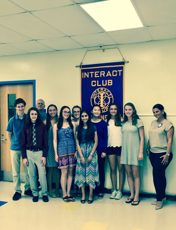A photo of the Interact Club