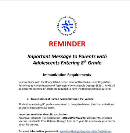 reminder 8th grade