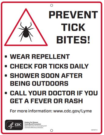 An information graphic on preventing tick bites