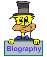 """Ducksters website graphic that says """"Biography"""""""