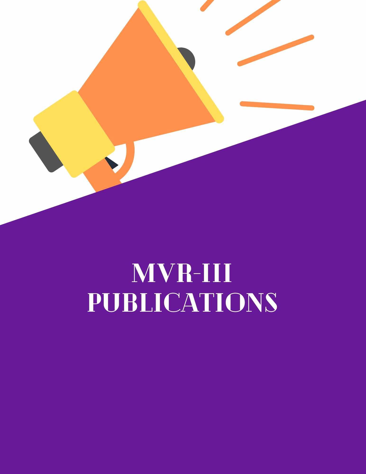 MVR-III Publications