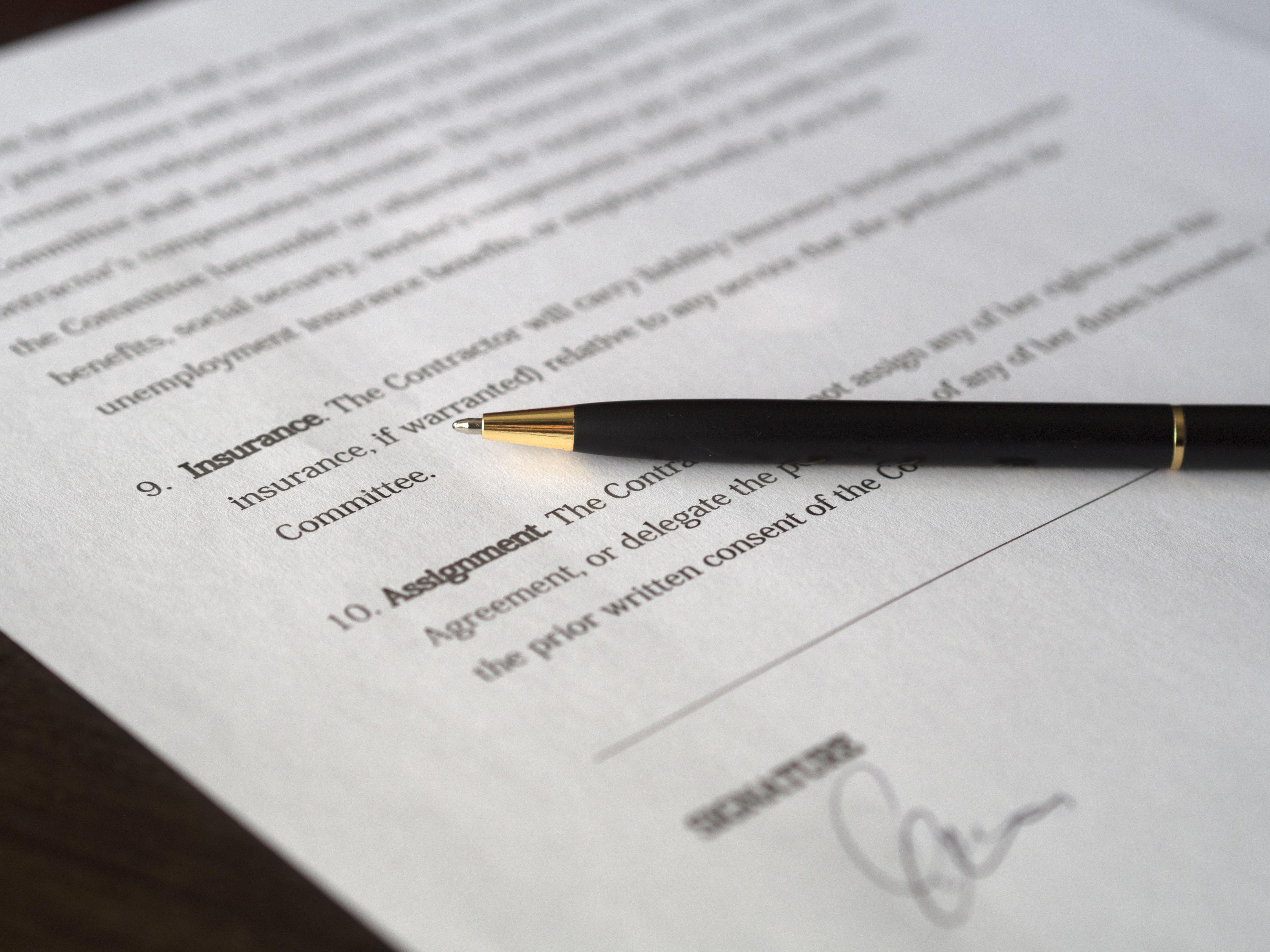 Black pen and white paper