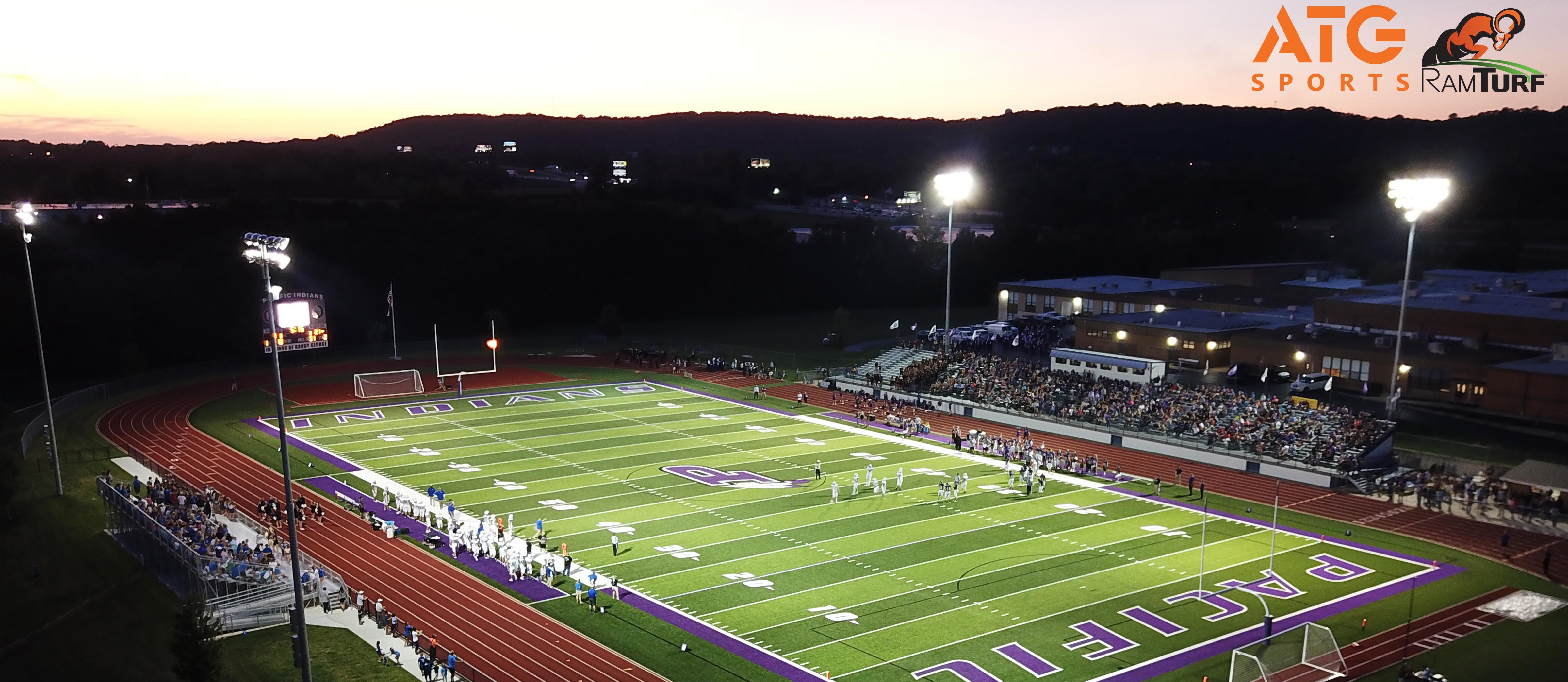field under lights