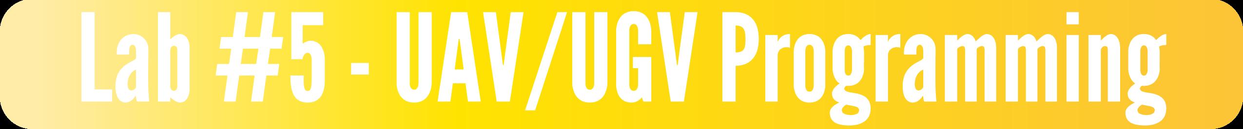 Lab #5 - UAV/UGV Programming