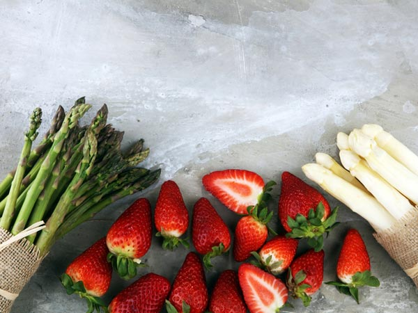 Strawberries and Asparagus