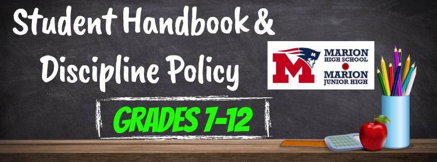 Student Handbook & Discipline Policy - Grades 7-12