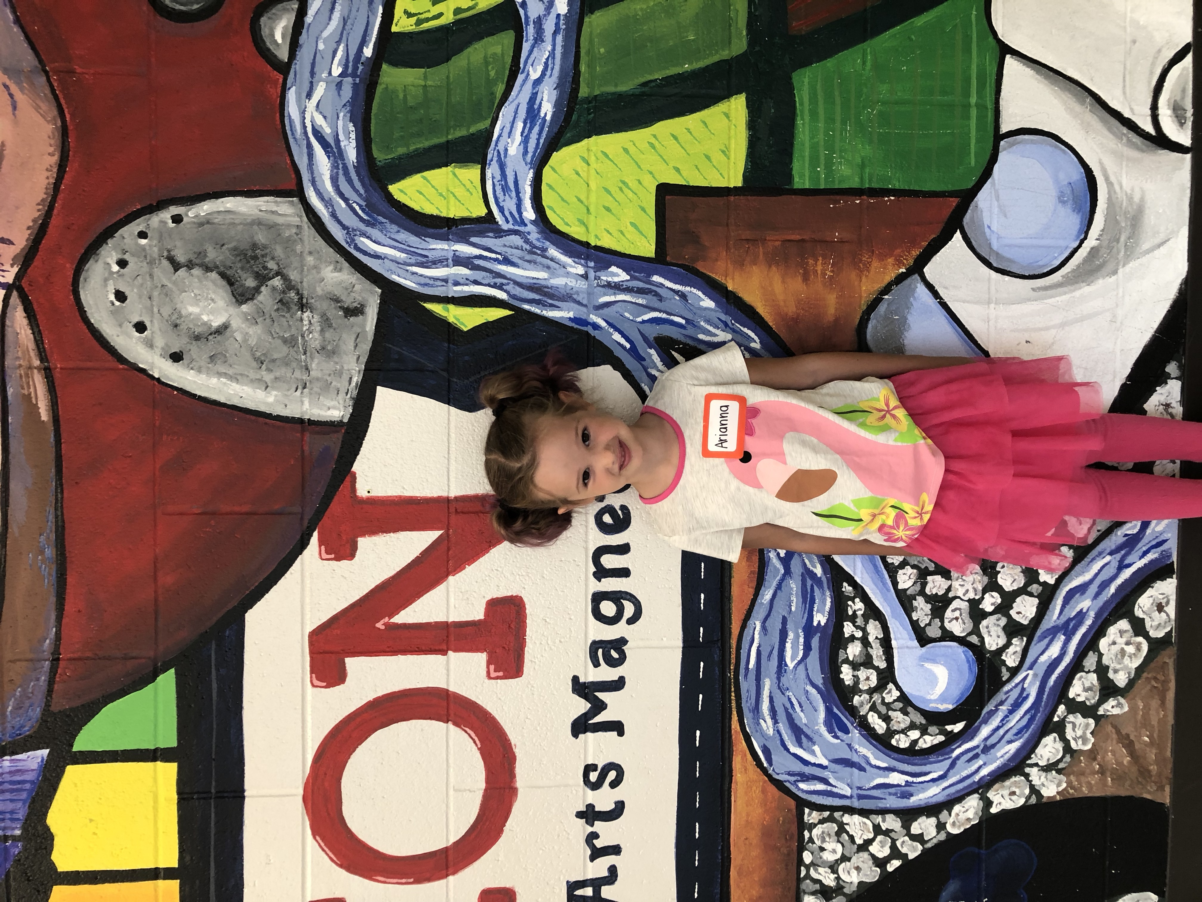 A photo of a student in the 2019 Kinder Kamp.