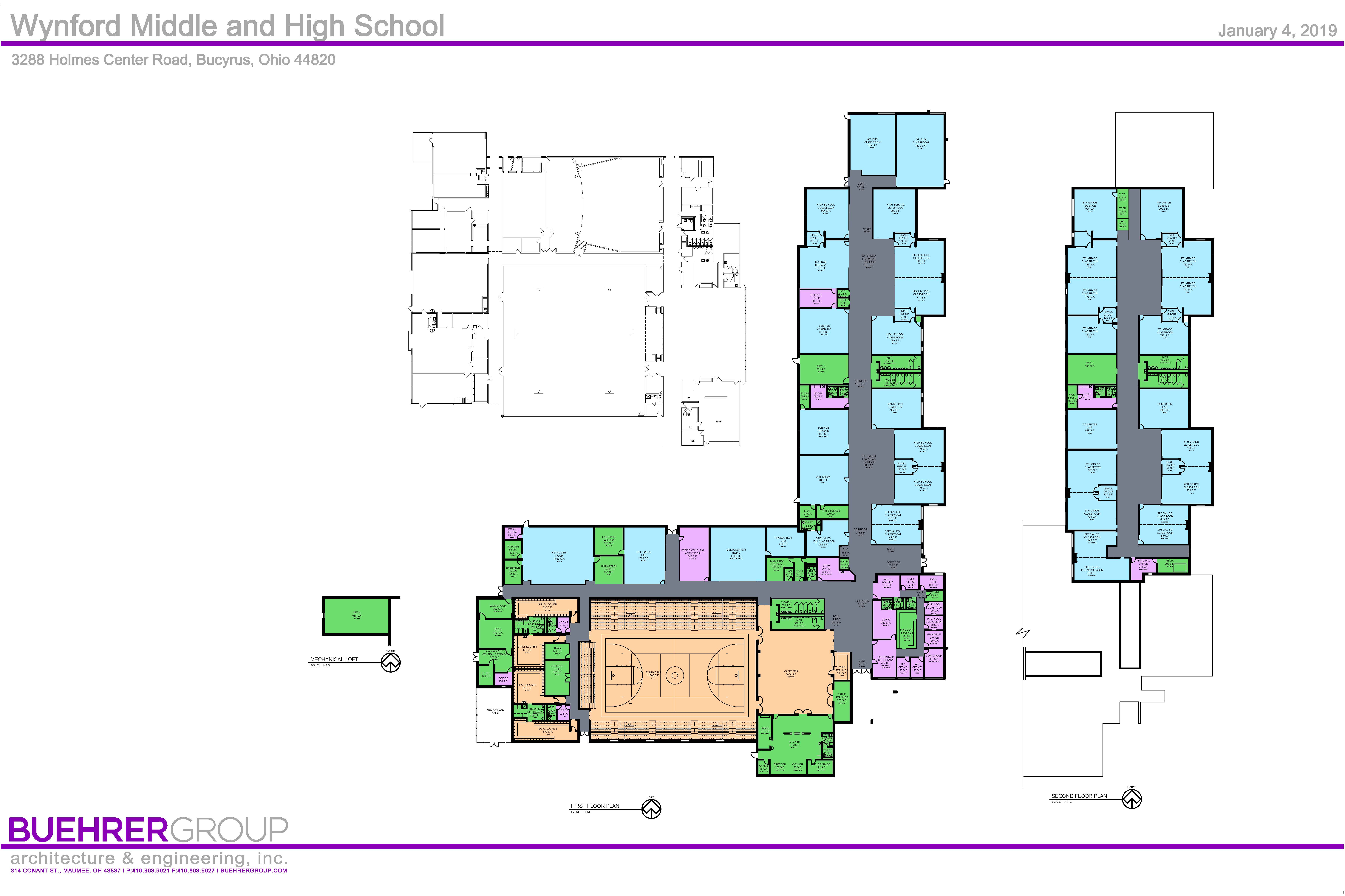 Wynford Middle and High School construction plans.