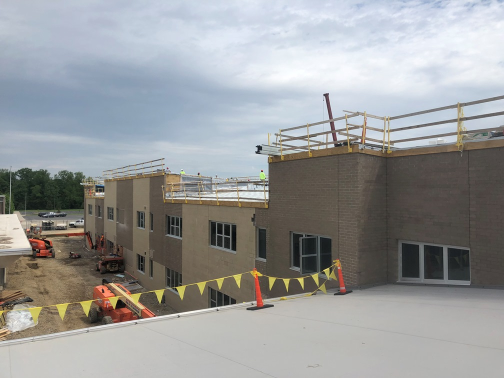 Photo of the backside of the academic wing.
