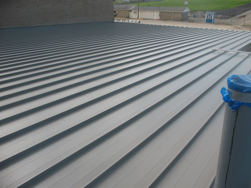 Photo of the Roof over the locker rooms.