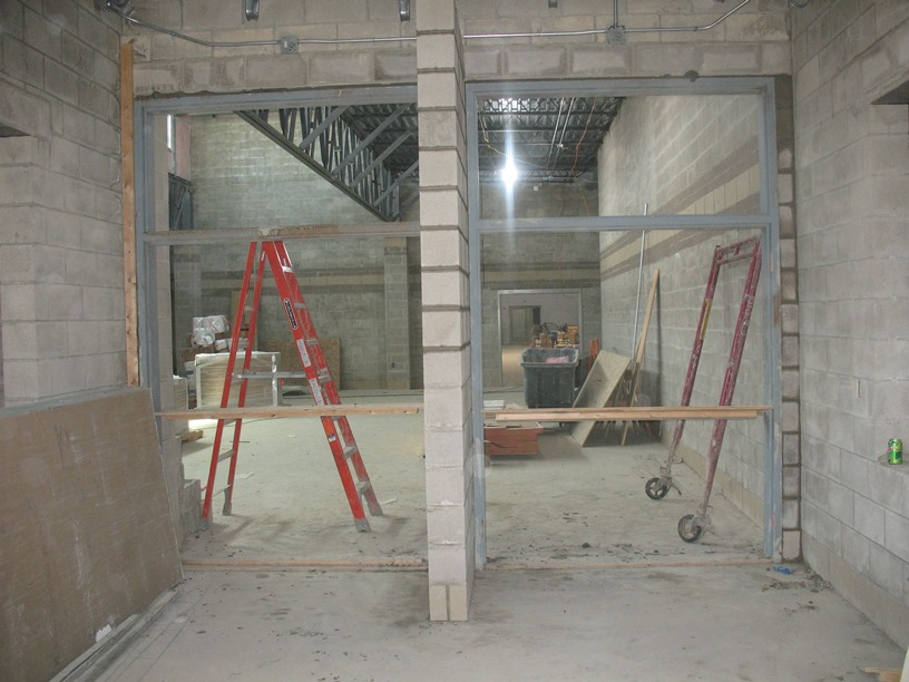 Photo of the Doors leading into the cafeteria.