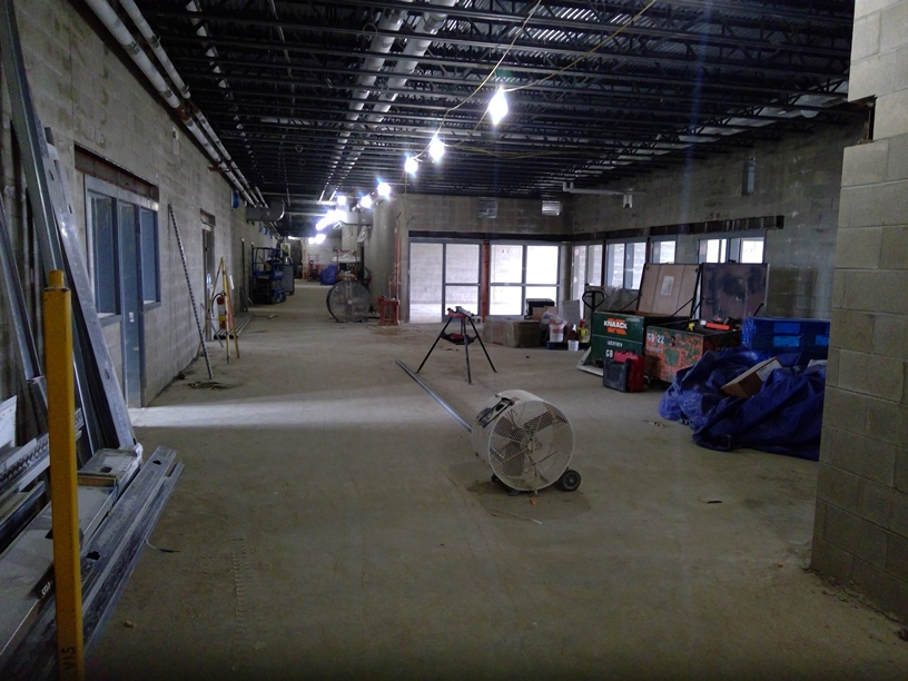 Photo of Downstairs extended learning area.