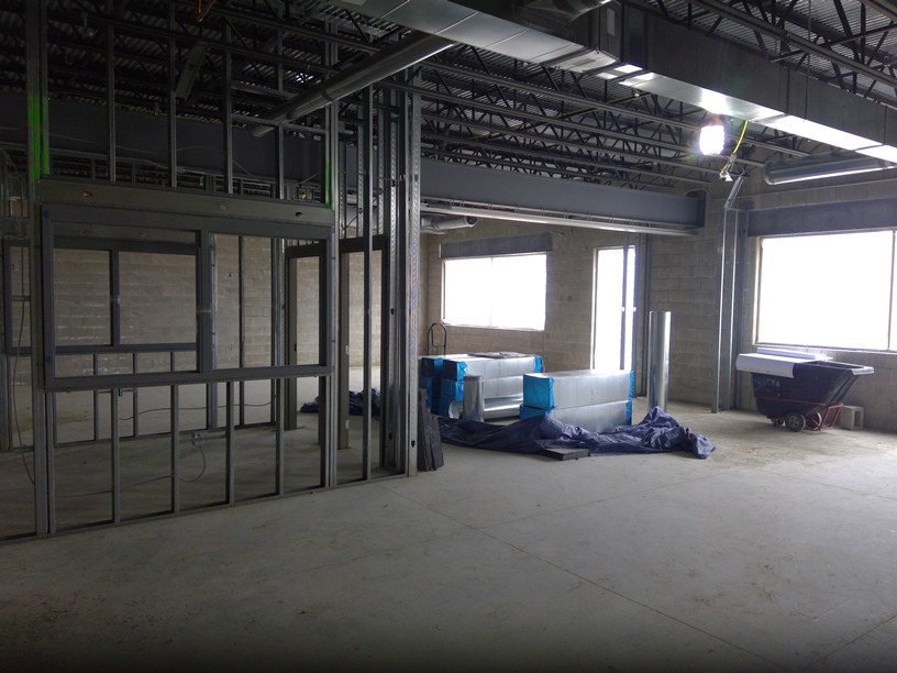 Photo of the Downstairs classrooms.