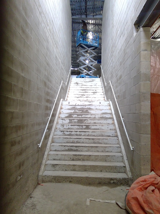 Photo of the Stairway at the north end of the building.
