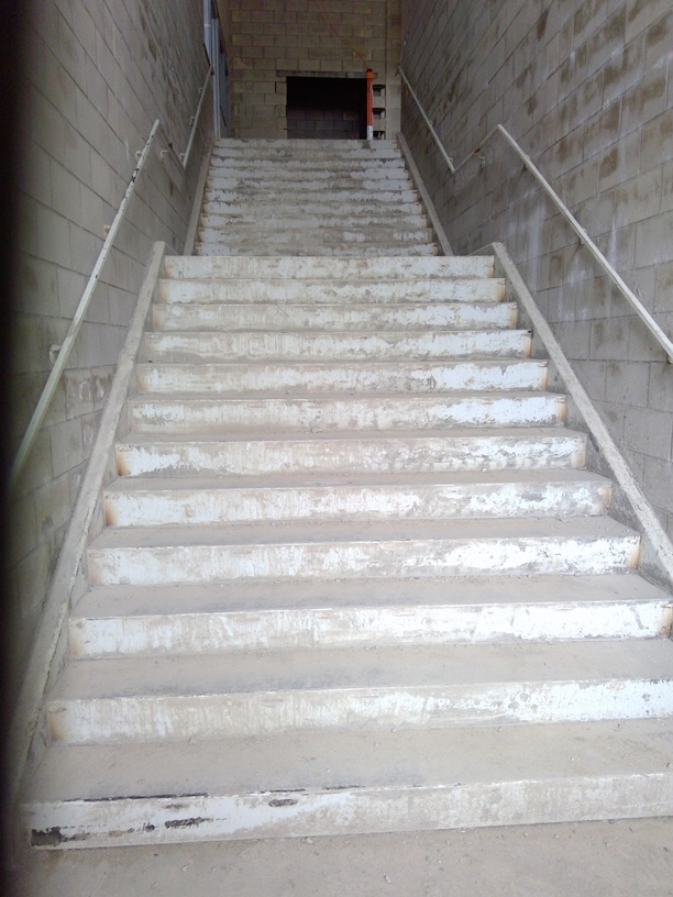 Photo of the Stairwell by the east entrance.