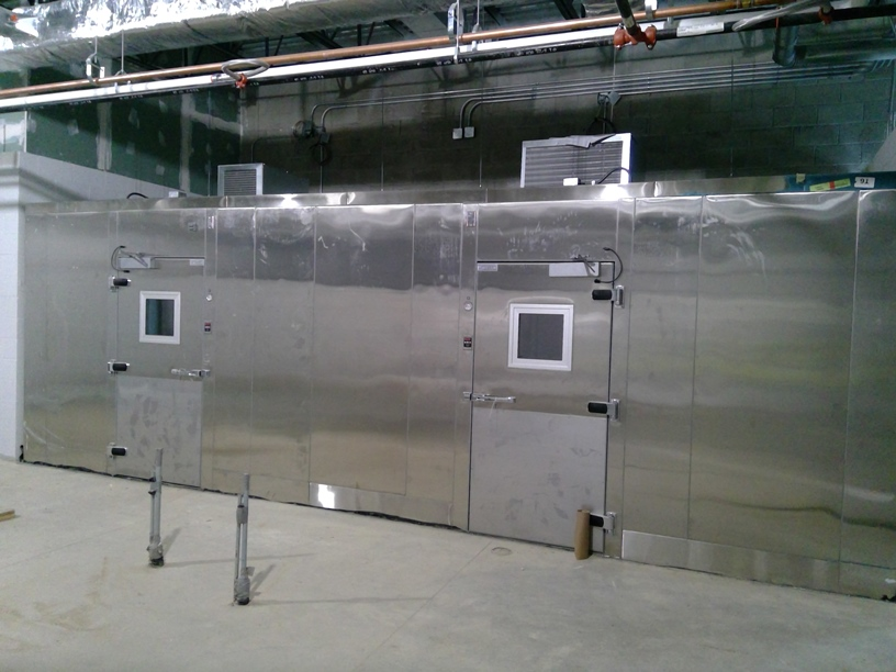Photo of the Kitchen with high efficiency freezer and cooler.