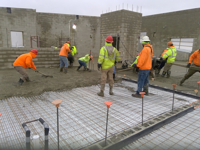 Photo of the concrete on the second floor.