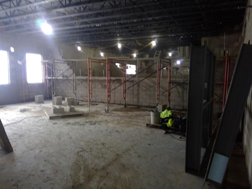Photo of the Non-load bearing interior walls.