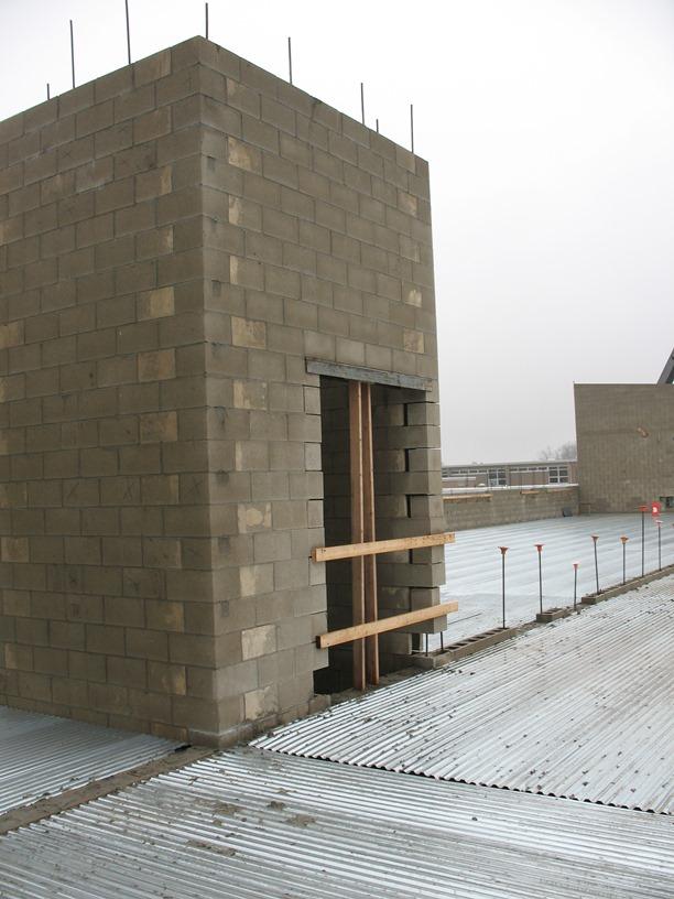 Photo of the Second-floor elevator shaft.