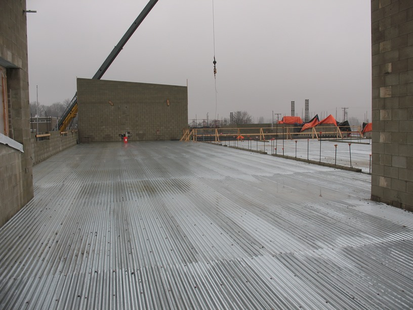 Photo of the deck looking north.