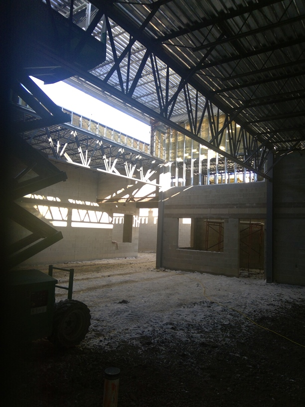 View of the cafeteria concession stand with more natural light