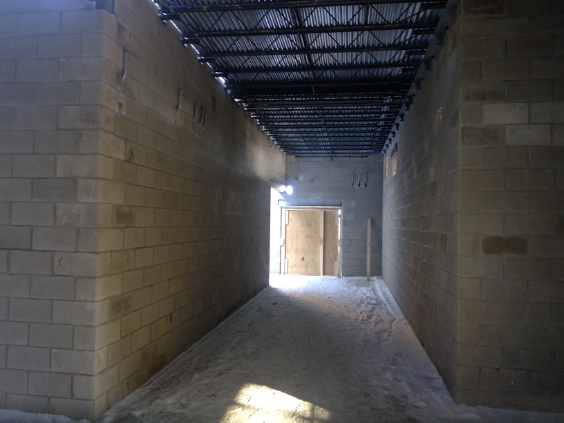 Photo of the Hallway back to the old cafeteria.