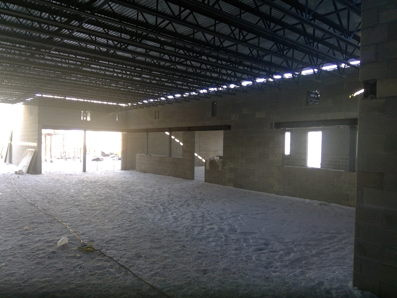 Photo of the Extended learning area in front of classrooms.