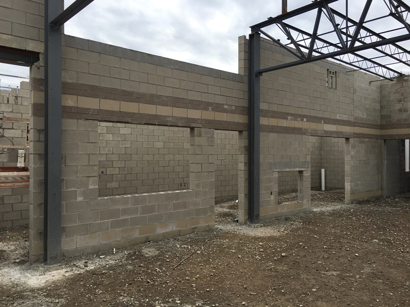 Photo of the Cafeteria concession stand and table storage.