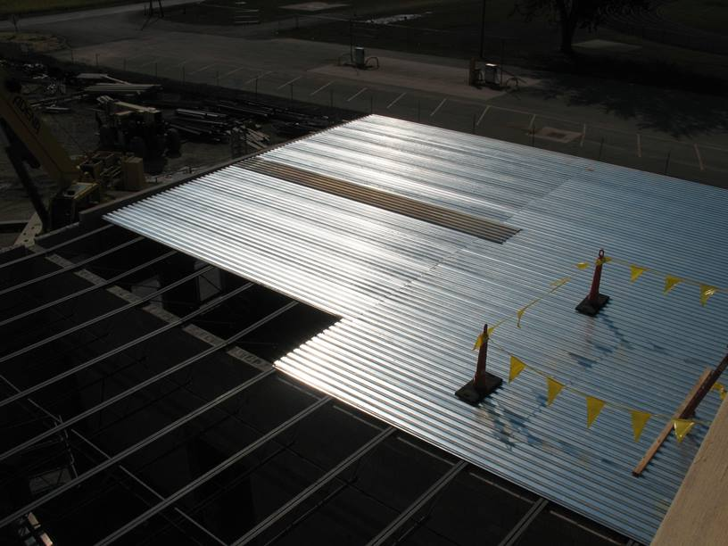 Photo of the Membrane roof.