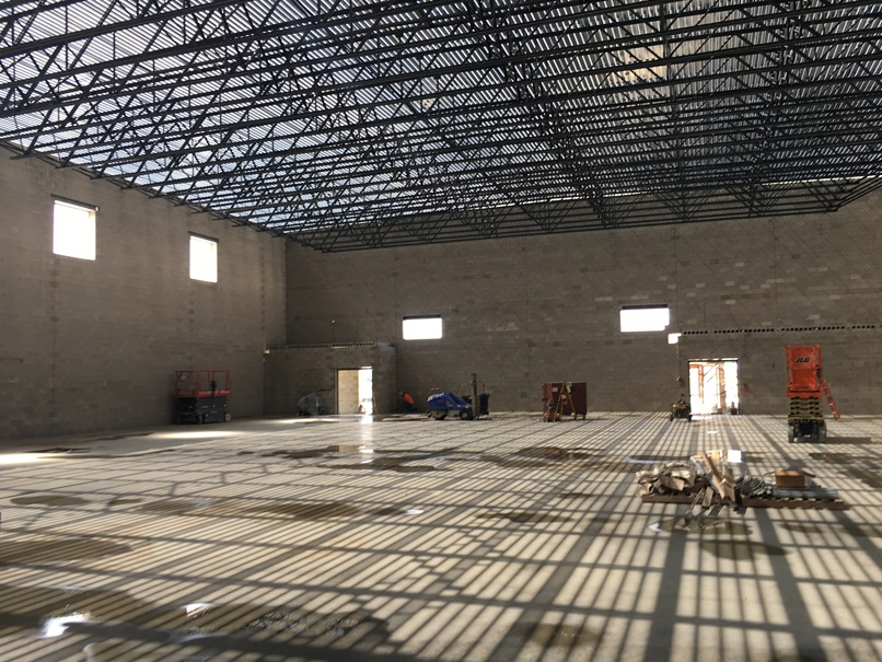 Photo of the new gym.