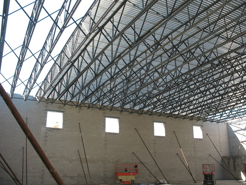 Photo of the Roof in the new gym.