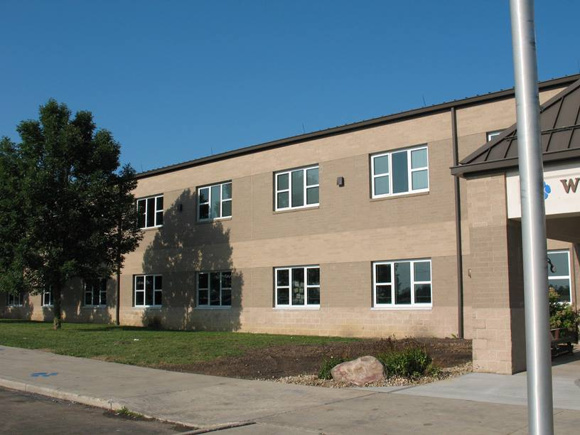 Photo of the New windows at the elementary school.