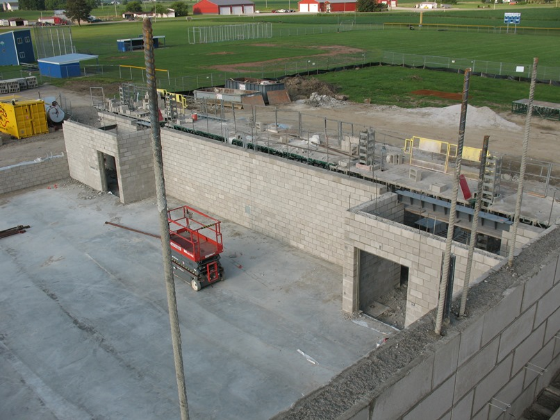 Photo of the West wall of the gym.