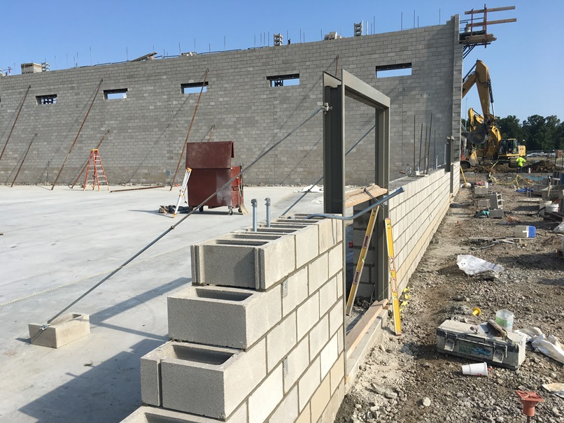 Photo of the East gym wall.