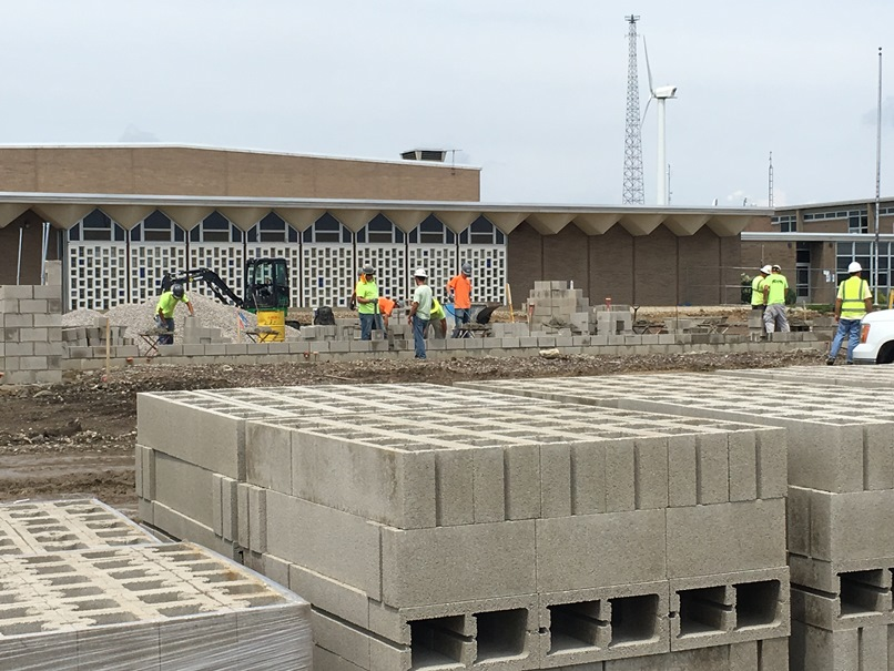 Photo of the Block being delivered.