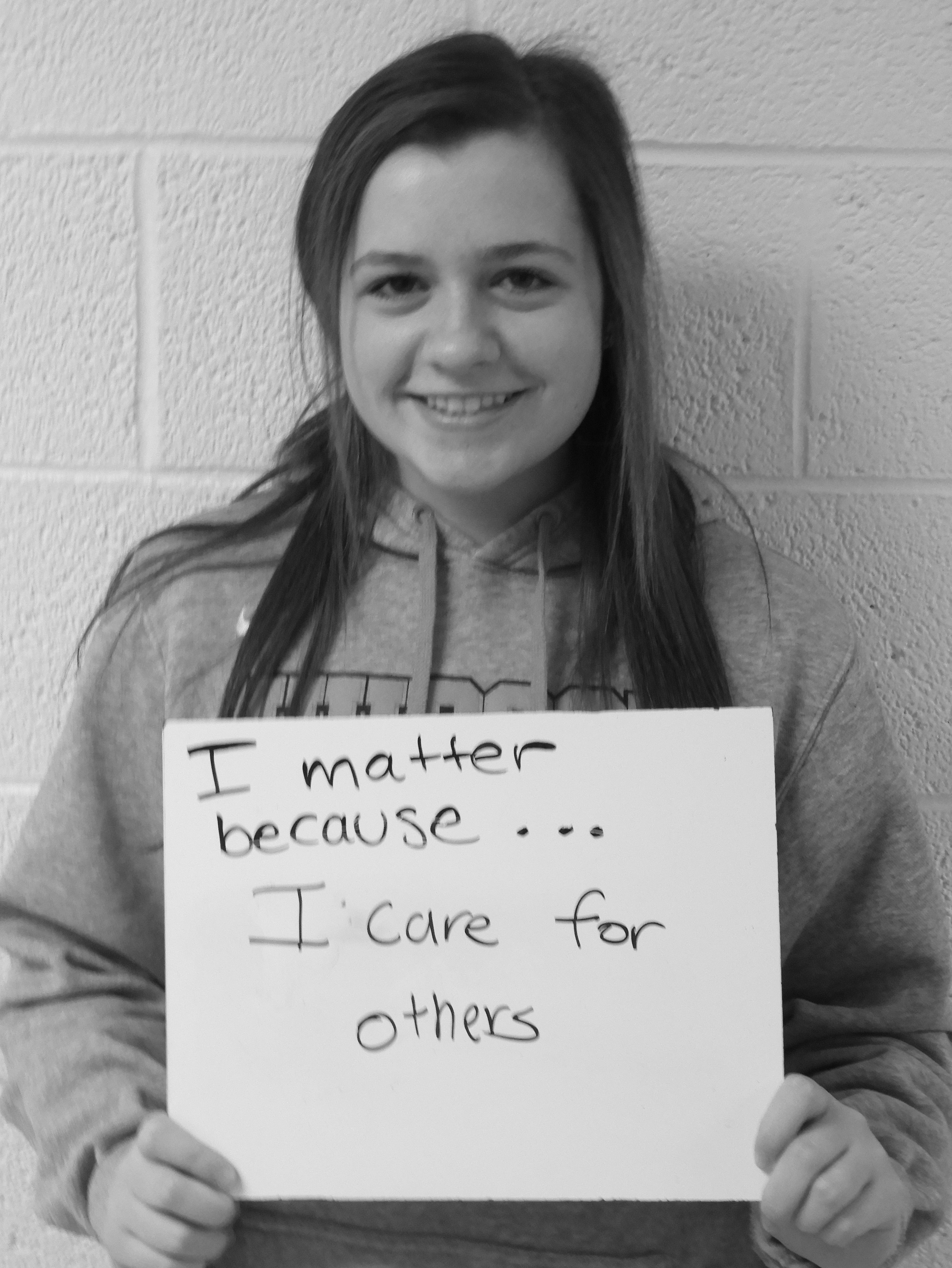 I matter because...I care for others