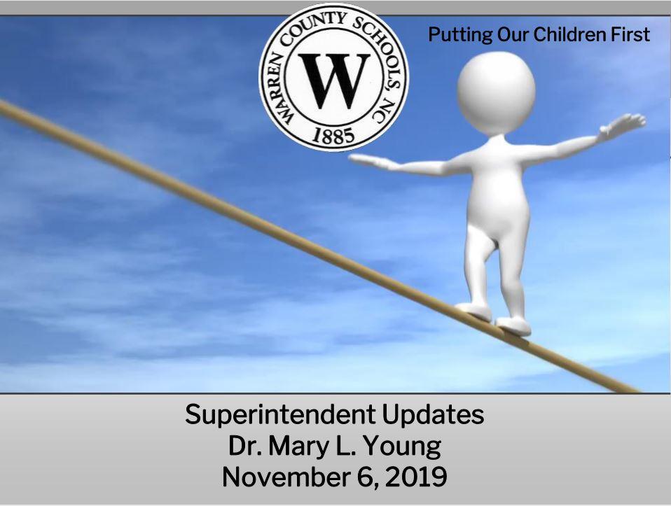 Superintendent's Updated