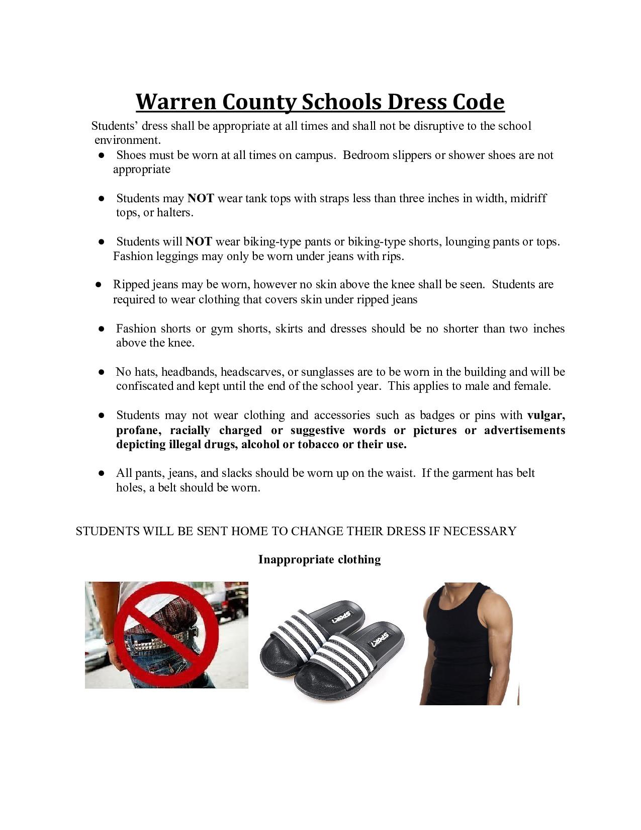 Warren County Dress Code
