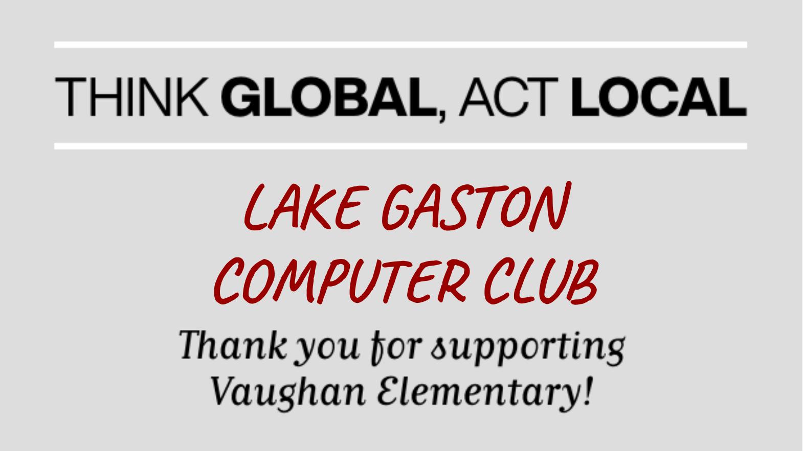 Lake Gaston Computer Club