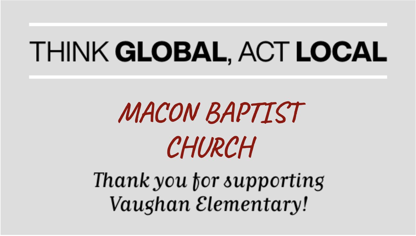 MACON BAPTIST CHURCH