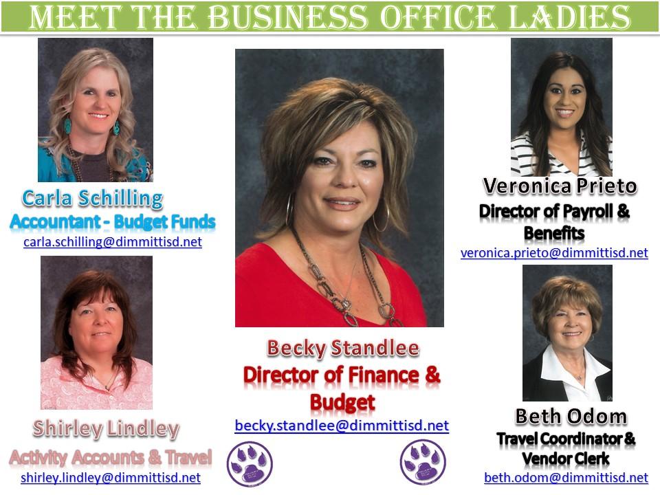 Meet the Business Office Ladies