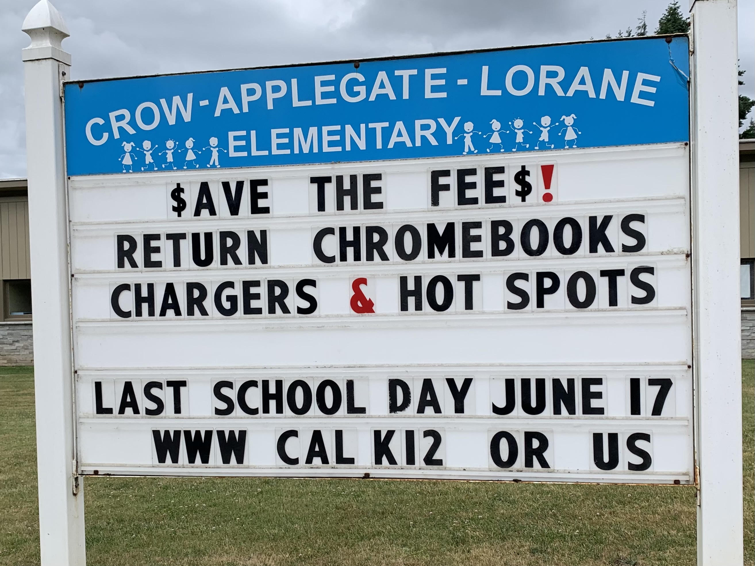 $ave the fee$! Turn in your borrowed hot spots, Chromebooks, and chargers.