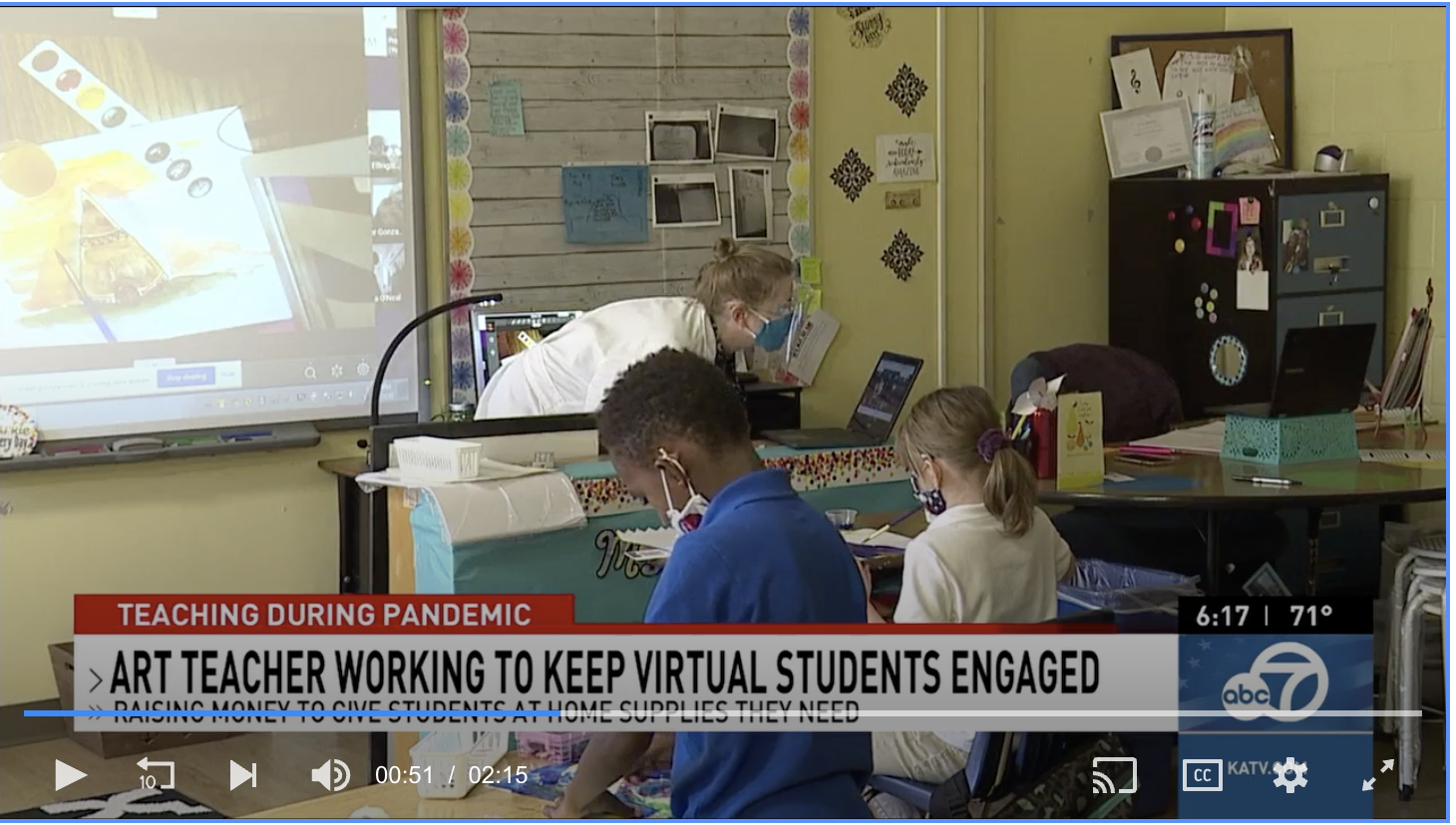 KATV: Art teachers get creative with hands-on assignments during remote learning
