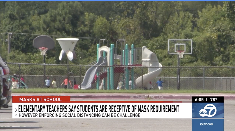 KATV:Elementary school teachers say students responding well to wearing masks